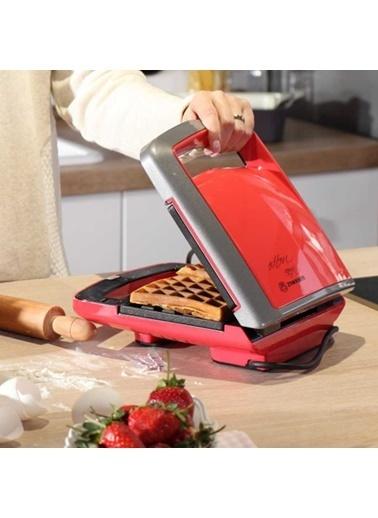 Korkmaz Vertex Kırmızı Waffle Makinesi Kırmızı